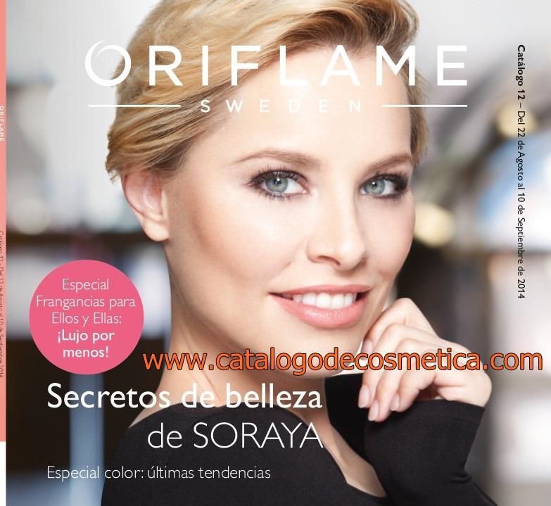 Soraya Arnelas en el catalogo 12 de Oriflame