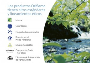 Productos de cosmetica Oriflame