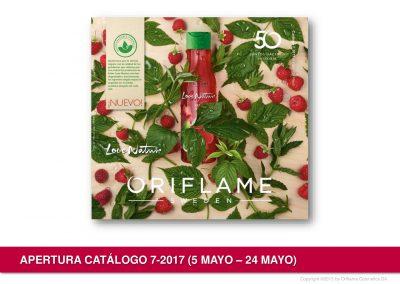 Presentación del catalogo 7 de Oriflame