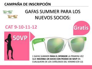 gafas de sol gratis para nuevos socios